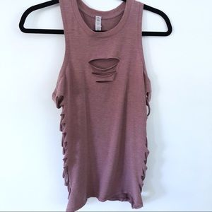 ALO Distressed/Ripped Tank
